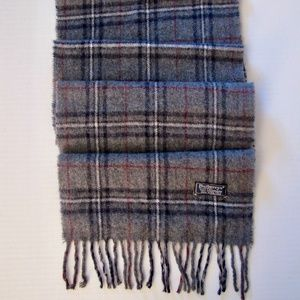 Burberrys of London CASHMERE Scarf Gray Navy Red